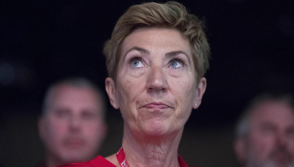 KRITISK: LO-nestleder Peggy Hessen Følsvik er forferdet over at grensa ble stengt uten at regjeringen hadde noen plan for dem som rammes direkte. Foto: Terje Pedersen / NTB scanpix