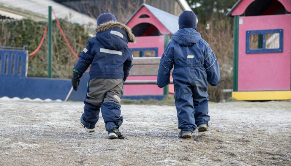 I BITTER LEKEPLASS-STRID: Det har oppstått full klinsj mellom hytteiere i Kragerø og kommunen etter planer om utvidelse av en lekeplass. Lekeplassen på bildet har ikke noe med saken å gjøre. illustrasjonsfoto: Gorm Kallestad / NTB