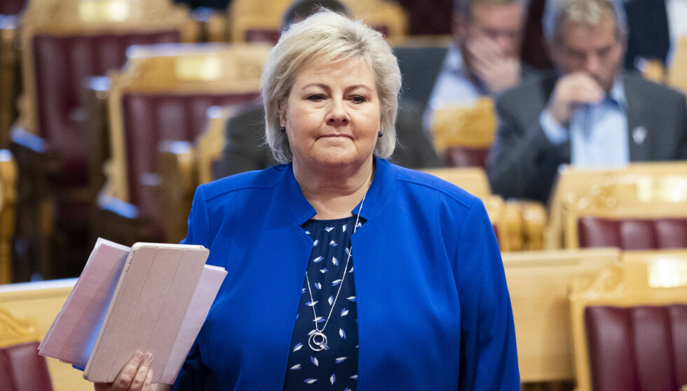 <strong>NEST RIKEST:</strong> Erna Solberg er nest rikest i regjering, mens bare fire statsråder har formue. Foto: Berit Roald / NTB scanpix