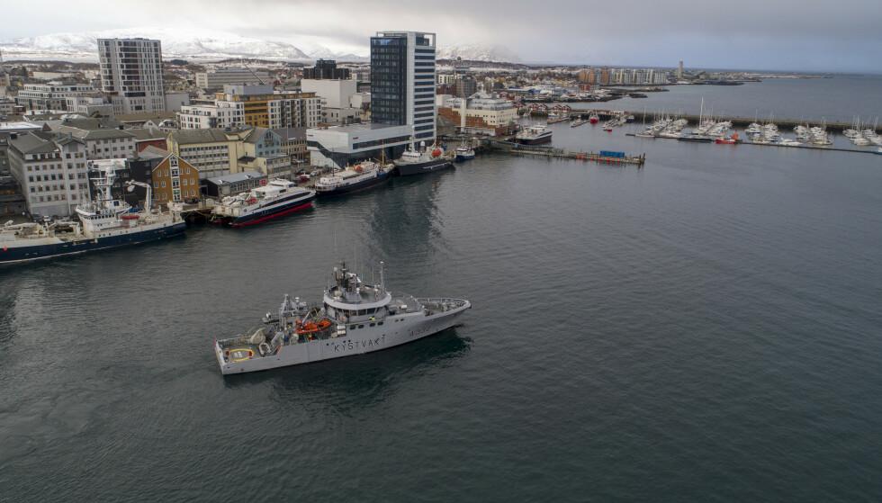 A-KRIMTOKT: Årets aksjon fra A-krim i Bodø omfattet opp mot 20 fiskebruk i Lofoten og Vesterålen. Foto: Kent Even Grundstad