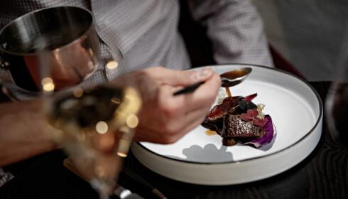 RAUST REINSDYR: Det er hele 18 serveringer på Stallens meny, men det er også plass til en raus rett med reinsdyr.