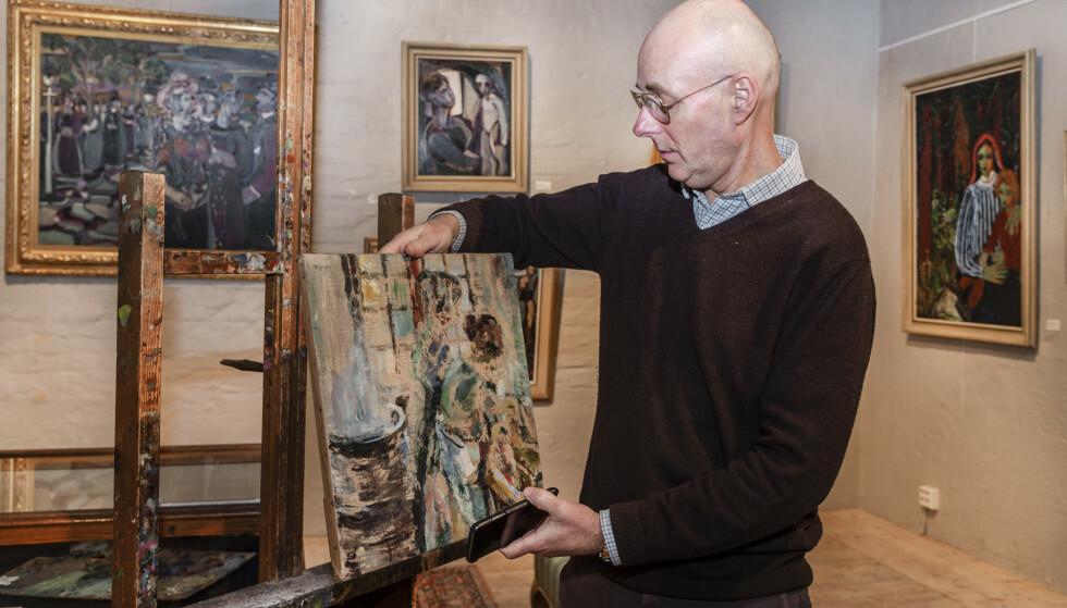 KUNSTEKSPERT: Pascal Nyborg ved Christiania Auksjoner: Foto: Hans Arne Vedlog