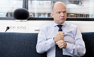 TRAVELT: NHO-sjef Ole Erik Almlid har dårlig tid. Foto: Kristin Svorte