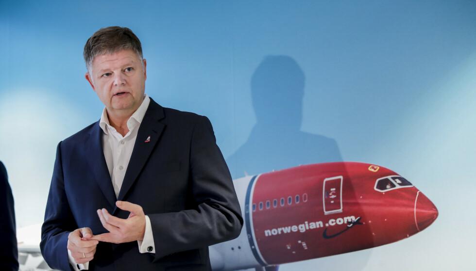 <strong>HELT SJEF:</strong> Den nye konsernsjefen Jacob Schram på Norwegians hovedkontor onsdag. Foto: Vidar Ruud / NTB scanpix