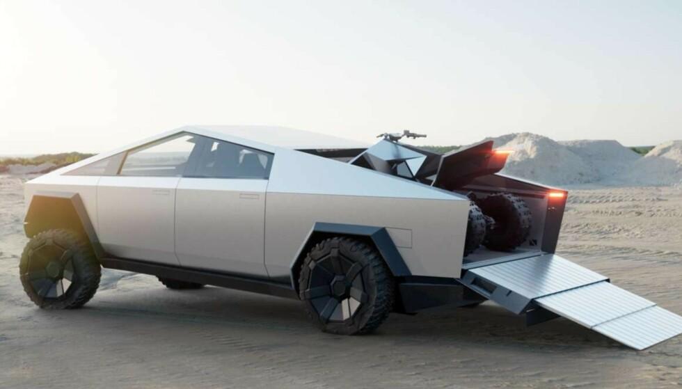 EN BIL FOR BOND?: Teslas Cybertruck er inspirert av filmer som «Blade Runner» og «The Spy Who Loved Me». Foto: Tesla