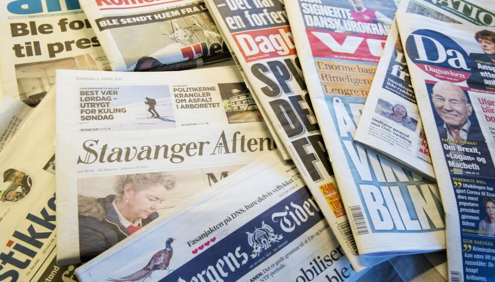 FALLER: Lønnsommheten faller i mediebransjen. Foto: Terje Bendiksby, NTB scanpix