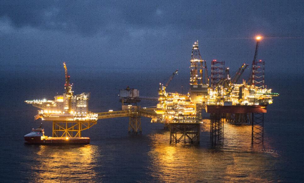 PENGEMASKIN: Ekkofisk-feltet i Nordsjøen. Her fant Phillips Petroleum olje for 50 år siden. Foto: Carina Johansen, NTB scanpix