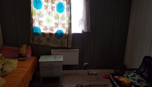 STUSSLIG: Fra et av rommene i huset arbeiderne på Sunsea bodde på. Foto: Privat