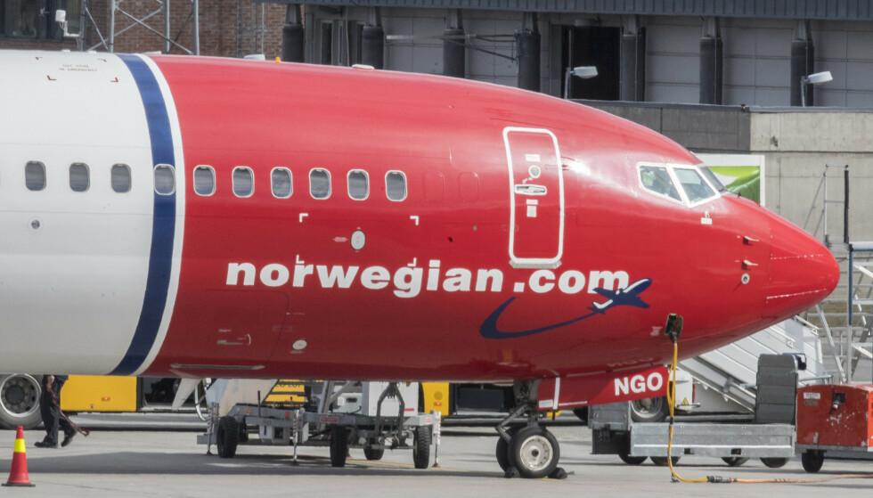 Gardermoen  20180424. Norwegian fly på Gardermoen flyplass. Foto: Vidar Ruud / NTB scanpix