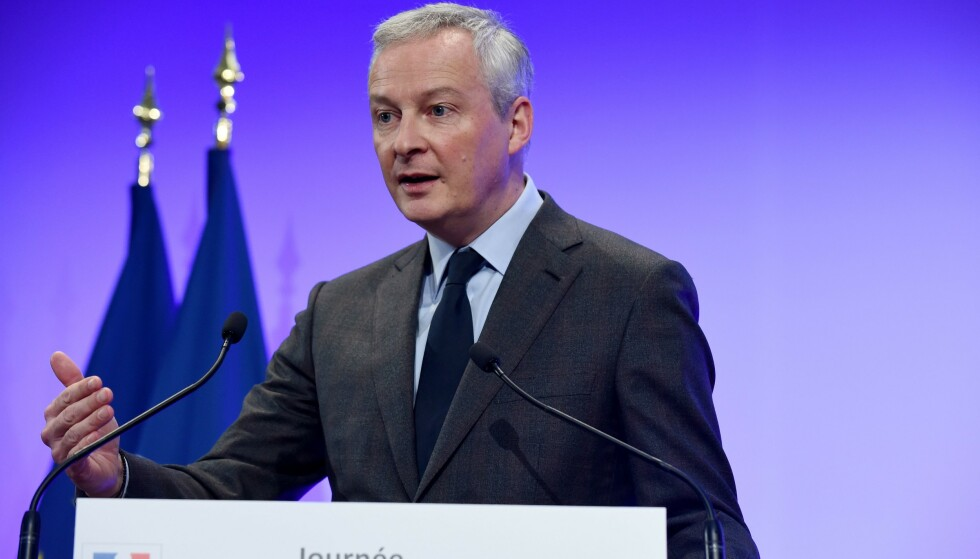 REAGERER: Frankrikes finansminister reagerer på truslene om tolltariffer. Foto: NTB scanpix