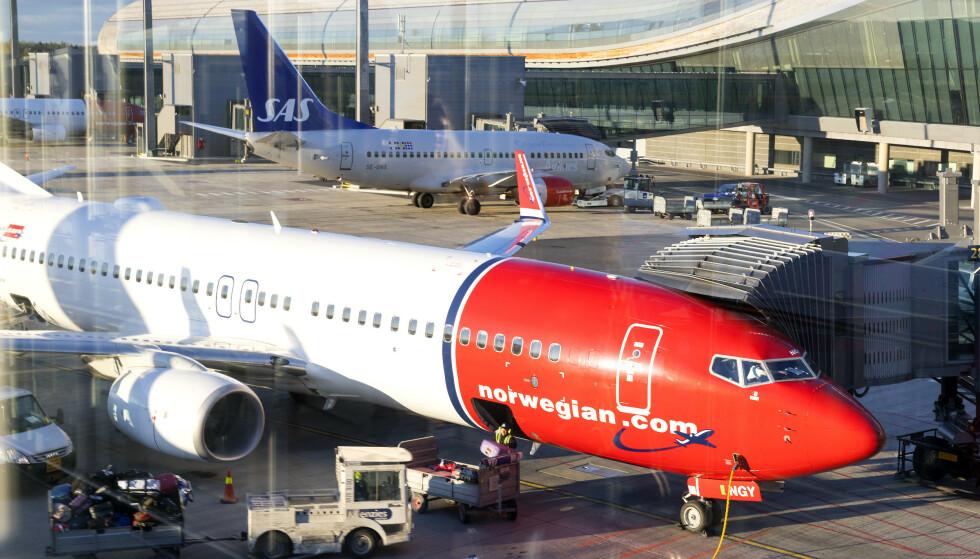 KANSELLERER: Både SAS og Norwegian har nå kansellert flyvninger til Italia. Foto: Gorm Kallestad / NTB scanpix