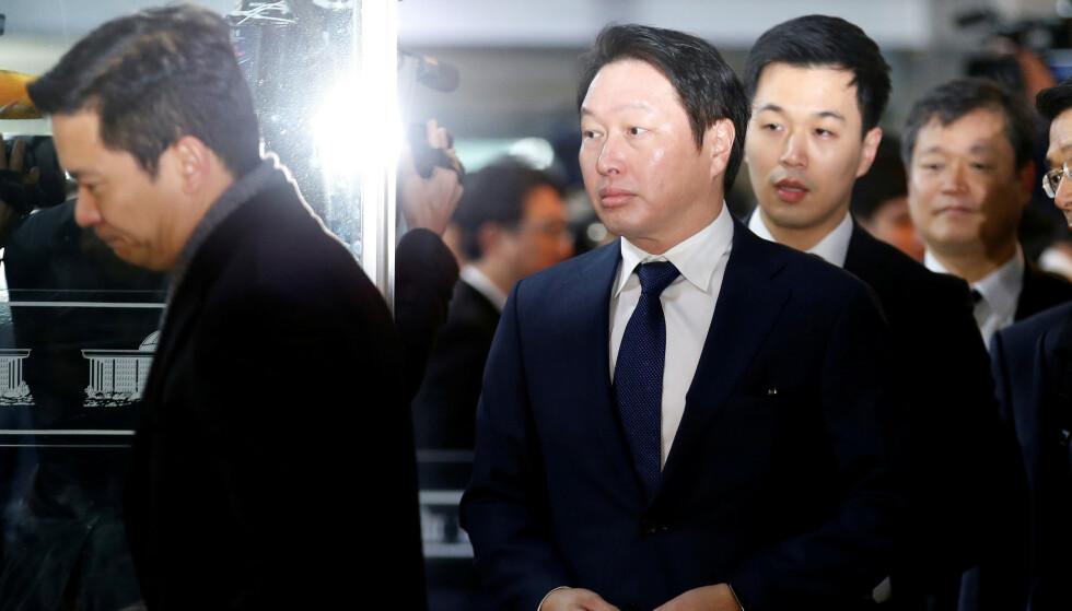 UTRO: Forretningsmannen Chey Tae-won avslørte selv i et brev at han hadde fått et barn utenfor ekteskapet. Det skal være en av grunnene til at paret går hver til sitt.Foto: REUTERS/Kim Hong-Ji, NTB scanpix