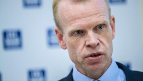 <strong>ØKTE MEST:</strong> Yara-toppsjef Svein Tore Holsether hadde størst økning i godtgjørelse av de statlige toppsjefene i 2018. Foto: Stian Lysberg Solum / NTB scanpix