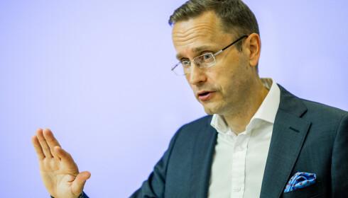 BEKYMRET: Snorre Storset, administrerende direktør i Nordea, er bekymret over funnene i undersøkelsen. Foto: Vegard Wivestad Grøtt / NTB scanpix
