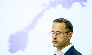 <strong>BEKREFTER:</strong> Snorre Storset, administrerende direktør i Nordea, bekrefter ansettelsesstansen. Foto: Vegard Wivestad Grøtt / NTB scanpix