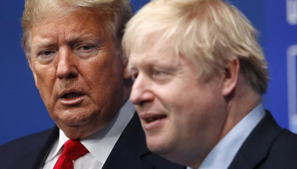 - MASSIV AVTALE: USAs president Donald Trump gratulerer Storbritannias Boris Johnson med valgseieren og sier landene nå vil kunne inngå en «massiv» handelsavtale. Foto: Peter Nicholls / AP / NTB Scanpix