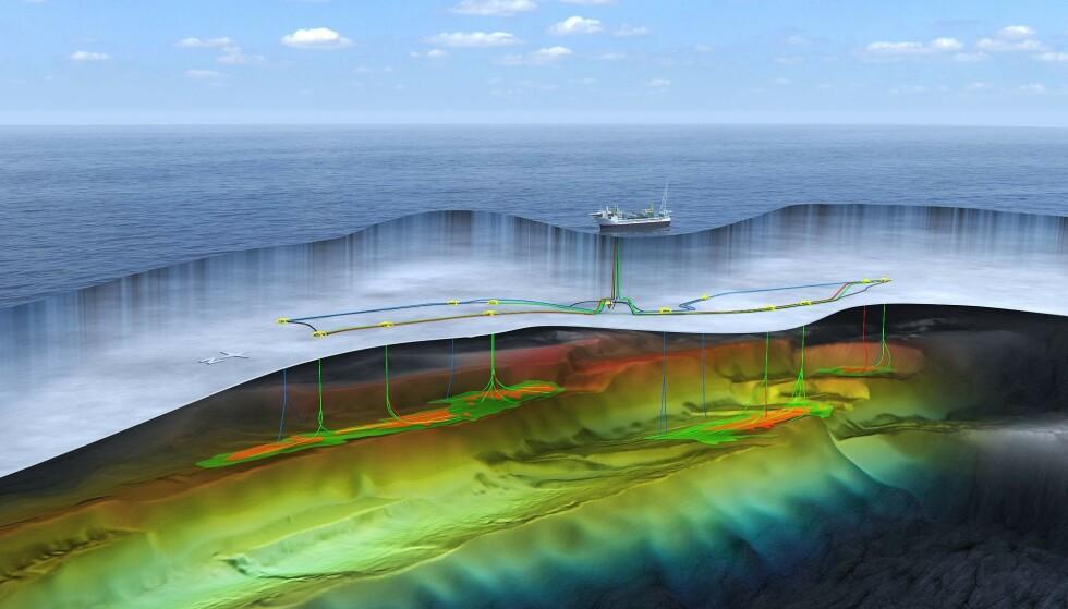 SKRITER PLANENE: Equinor dropper ilandføring av olje og gass fra Johan Castberg-feltet. Dermed blir det ikke noe av terminalen i Finnmark. Illustrasjon: Equinor