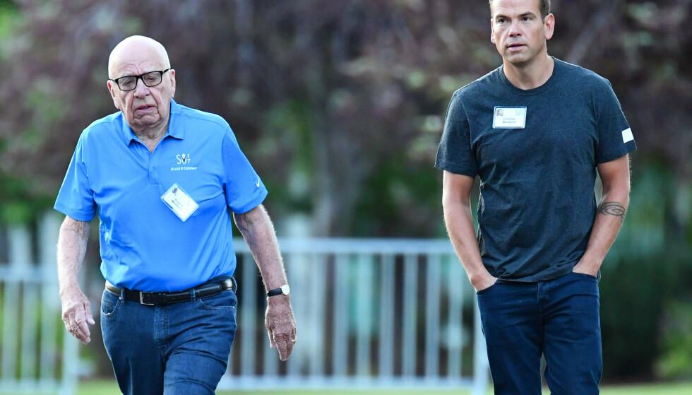 <strong>KJØPTE:</strong> Lachlan Murdoch sammen med faren, mediemogulen Rupert Murdoch. Foto: Rob Latour/REX