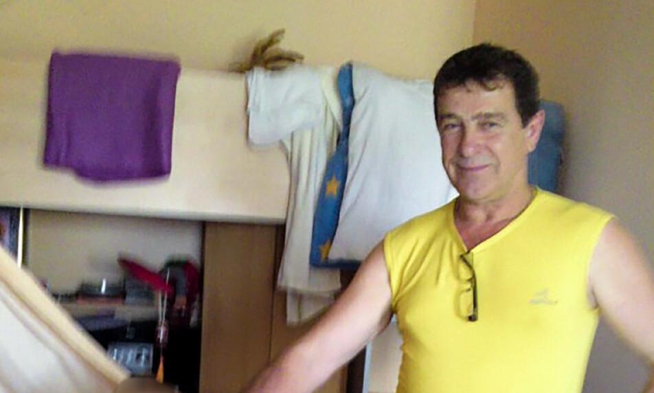 DØDE: Familiefaren Gennadij (54) døde mens han fisket reker som ble solgt til et norsk mottak som solgte reker som var miljømerket. Foto: Privat
