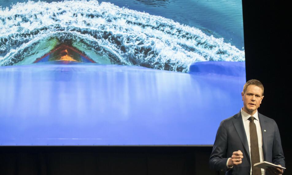 SELVPÅLAGT: – Skipsfarten er klare til å bidra. Nå er det opp til politikerne å vedta forslaget, sier administrerende direktør Harald Solberg i Rederiforbundet.Foto: Vidar Ruud, NTB scanpix