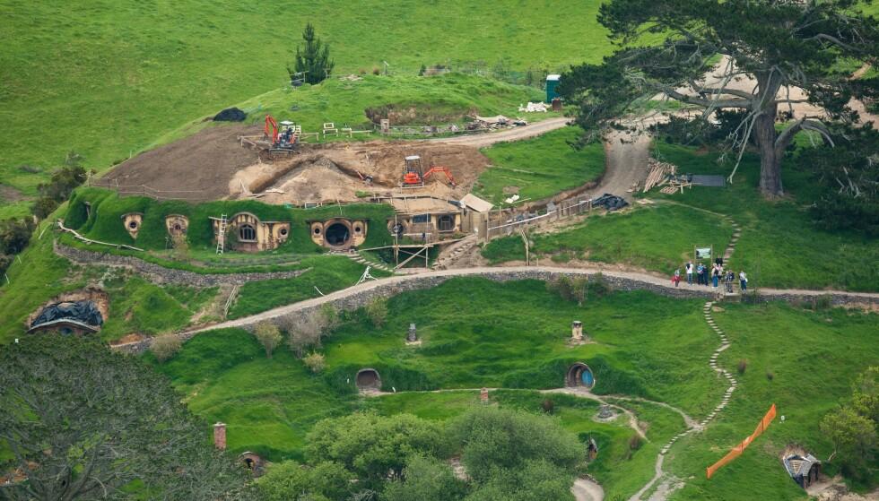KJENT STED: North Island er også kjent som innspillingsstedet til Hobbittun fra «Hobbiten», riktig nok noen mil nordøstover på øya - i Matamata, Waikato. Dette bildet er fra 2010. Foto: Stephen Barker / Rex / Shutterstock / NTB Scanpix