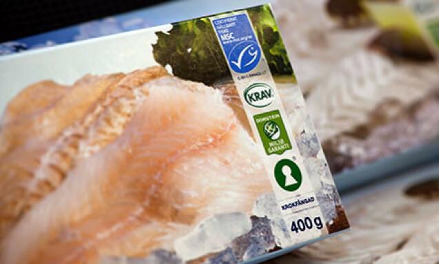 KVALITETSMERKET TORSK: Krav-merket garanterer at fisken er produsert under lovlige arbeidsforhold. Foto: KRAV