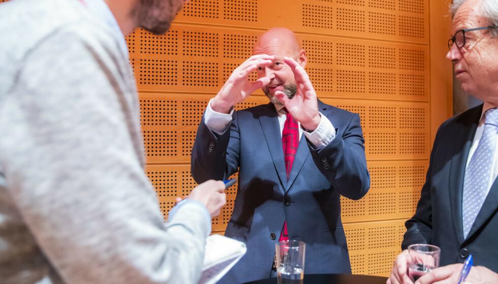 NY REKORD: Oljefondsjef Yngve Slyngstad tror den nye rekorden blir stående lenge. Etter nesten tolv år i jobben går han av som leder for oljefondet. Foto: Håkon Mosvold Larsen / NTB scanpix