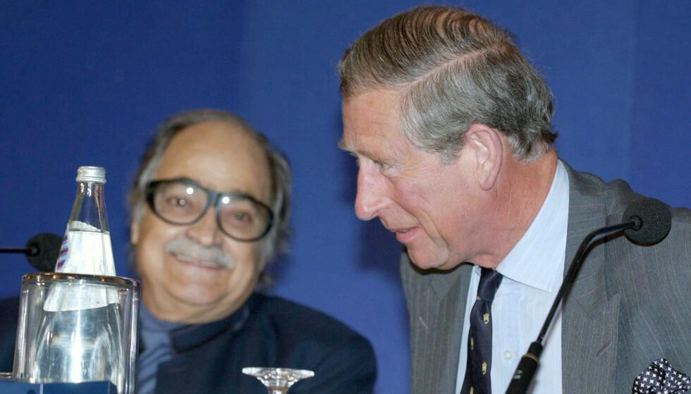 <strong>ISLAMSK BANKMANN:</strong> Saleh Kamel er en av Saudi-Arabias rikeste. Her er han sammen med britenes prins Charles under en islamsk bank- og utviklingskonferanse i London i mai 2004. Foto: NTB Scanpix