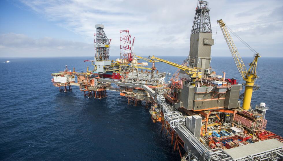 NORSK OLJEPRODUKSJON: Oljenæringen er et mål for russisk spionasje, mener PST. Foto: Håkon Mosvold Larsen / NTB scanpix