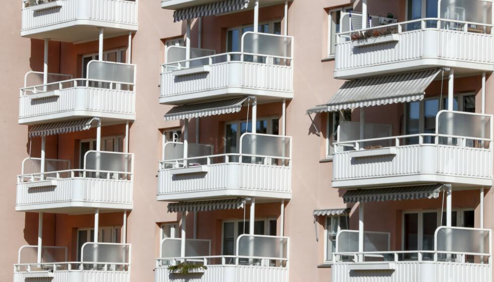 PRISFALL: Prisene på brukte OBOS-boliger i Oslo falt med 5,6 prosent i desember. Her fra Nordre Åsen borettslag i Oslo Foto: Terje Pedersen / NTB scanpix