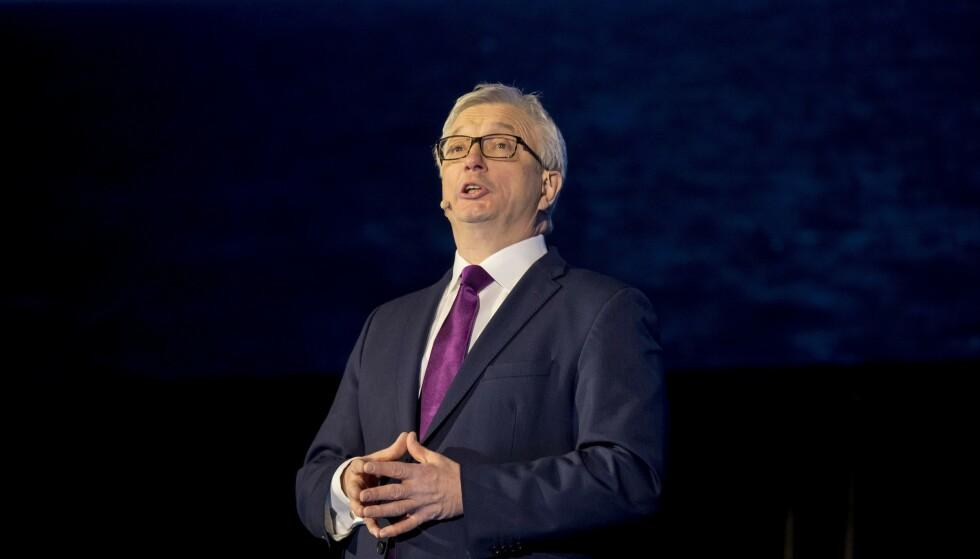 GÅR AV: Administrerende direktør i Norsk olje og gass, Karl Eirik Schjøtt-Pedersen, sier det er en tid for alt og at det er på tide å gi stafettpinnen videre. Foto: Vidar Ruud / NTB scanpix