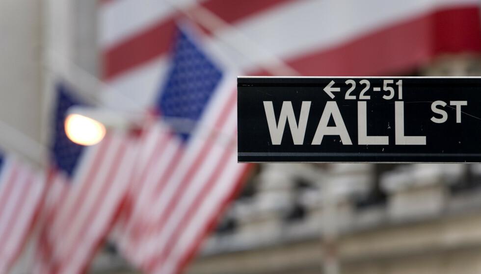NED: Amerikanske børser åpner i rødt mandag. Foto: NTB scanpix