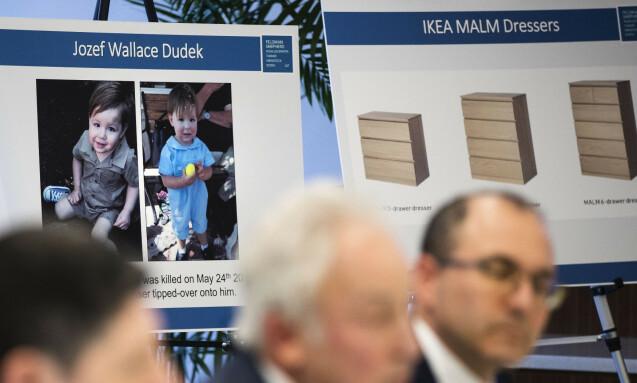 RETTSSAK: Jozef Dudek døde etter at IKEAs Malm kommode veltet over ham. Foto: Matt Rourke / AP / NTB Scanpix