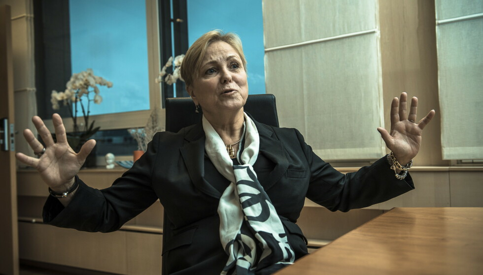 <strong>OPPGITT:</strong> Tidligere olje- og energiminister Thorhild Widvey begynner nesten å le da Børsen forteller om kvinnekrangelen i herreklubben som nektet henne adgang for sju år siden. Foto: Lars Eivind Bones