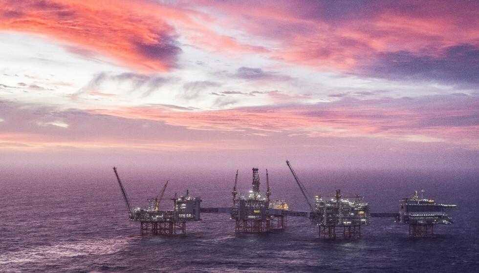 TRENDEN SNUR: Johan Sverdrup-feltet er det tredje største oljefeltet på sokkelen. Oljedirektoratet spår store inntekter fra feltet, og at produksjonen vil øke i 2020, etter å ha gått ned i 2019. Foto: Carina Johansen / NTB Scanpix