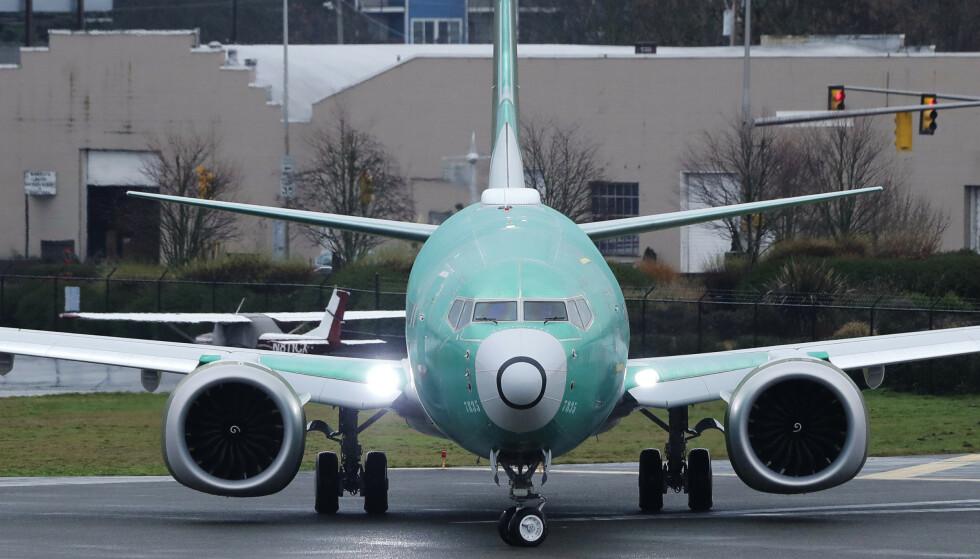 PROBLEMER: Interne dokumenter fra Boeing viser at ansatte visste at flysimulatorene som skulle teste sikkerheten til flymodellen 737-MAX, hadde problemer. Arkivfoto: Ted S. Warren / AP / NTB Scanpix