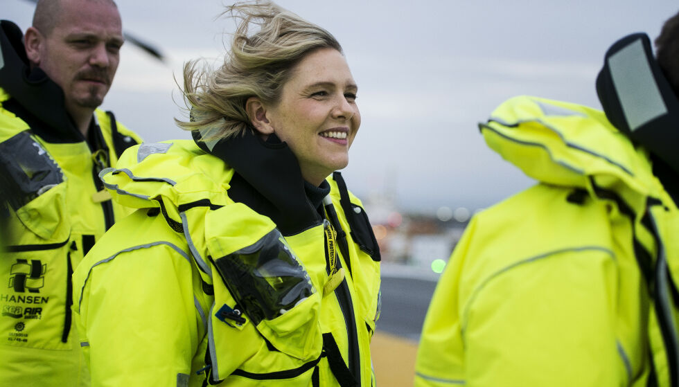 Olje- og energiminister Sylvi Listhaug (Frp) holdt tirsdag tale på Oljeindustripolitisk seminar. Her er hun på besøk på Johan Sverdrup-feltet. Foto: Carina Johansen / NTB scanpix