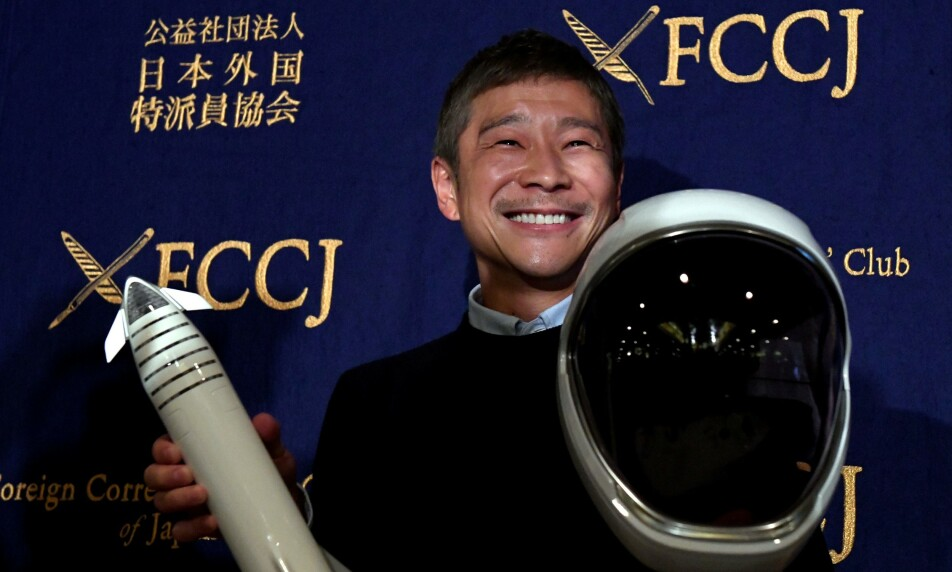 SNUOPERASJON: Milliardær Yusaku Maezawansket ønsket opprinnelig å finne en kjæreste som kunne være med på måneferd. Nå har han trukket invitasjonen. Foto: NTB Scanpix