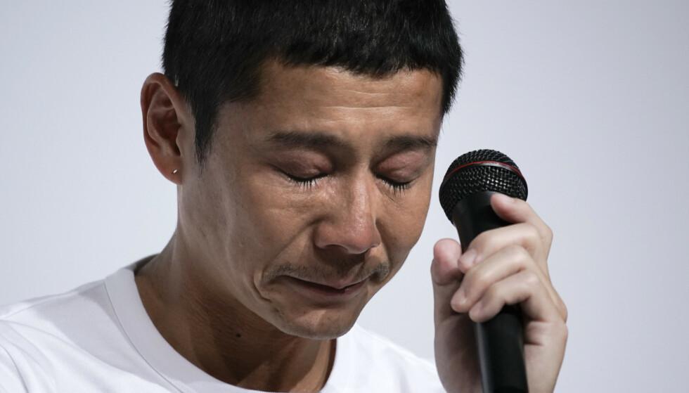 <strong>BEKLAGER:</strong> Yusaku Maezawa understreker at han er lei seg for avgjørelsen. Foto: NTB Scanpix