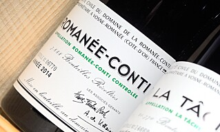 GODBIT: En Romanee-Conti fra 2014 fra produsenten ved samme navn kunne blitt din for 55.000 kroner, om du hadde vært tidlig nok ute i polkøen for årets Burgund-slipp. Foto: Endre Vellene