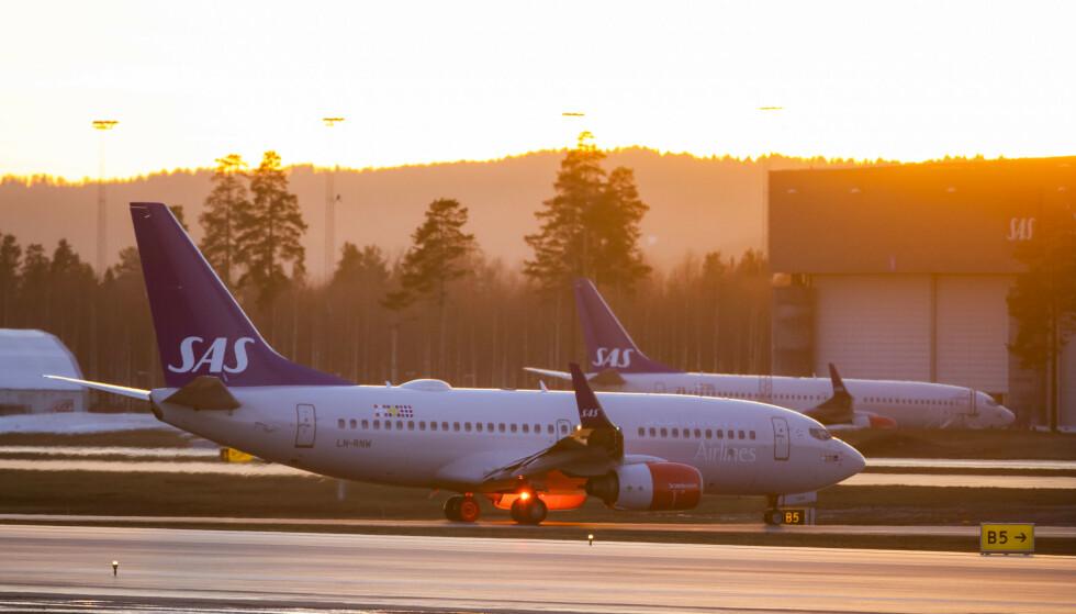 <strong>FLERE REISENDE:</strong> SAS kan vise til en passasjervekst i januar 2020 målt mot januar 2019. Foto: Håkon Mosvold Larsen / NTB scanpix