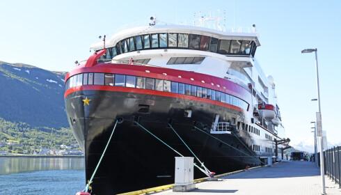 EKSTREMT FÅ: Hurtigruten sier til Børsen at de har mottatt noen avbestillinger, men veldig få. Foto: Rune Stoltz Bertinussen / NTB scanpix