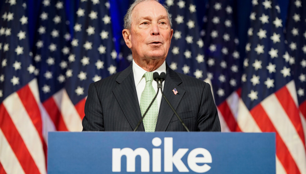 KANDIDAT: Demokraten Michael Bloomberg kungjorde sitt kandidatur som Demokratenes presidentkandidat 25. november i fjor. Foto: Joshua Roberts   / Reuters / NTB Scanpix