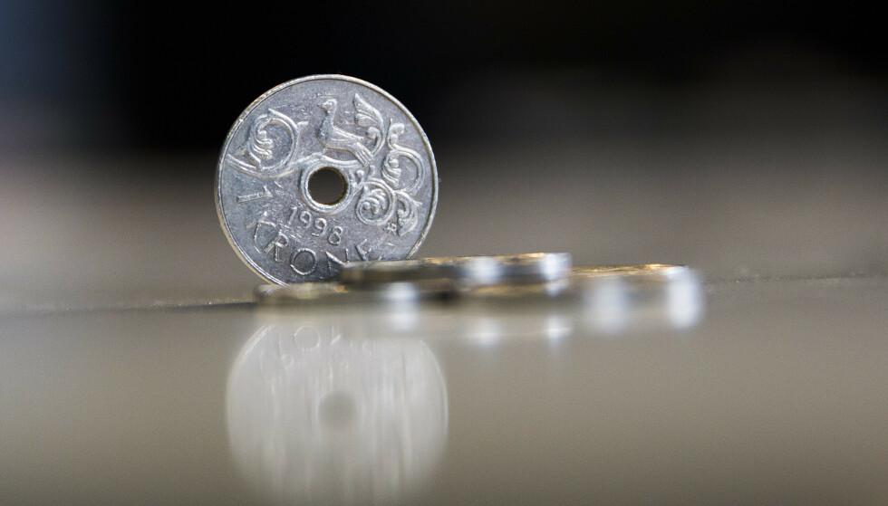 SVAK: Den norske krona er på sitt svakeste nivå på 30 år.  Foto: Berit Roald / NTB scanpix