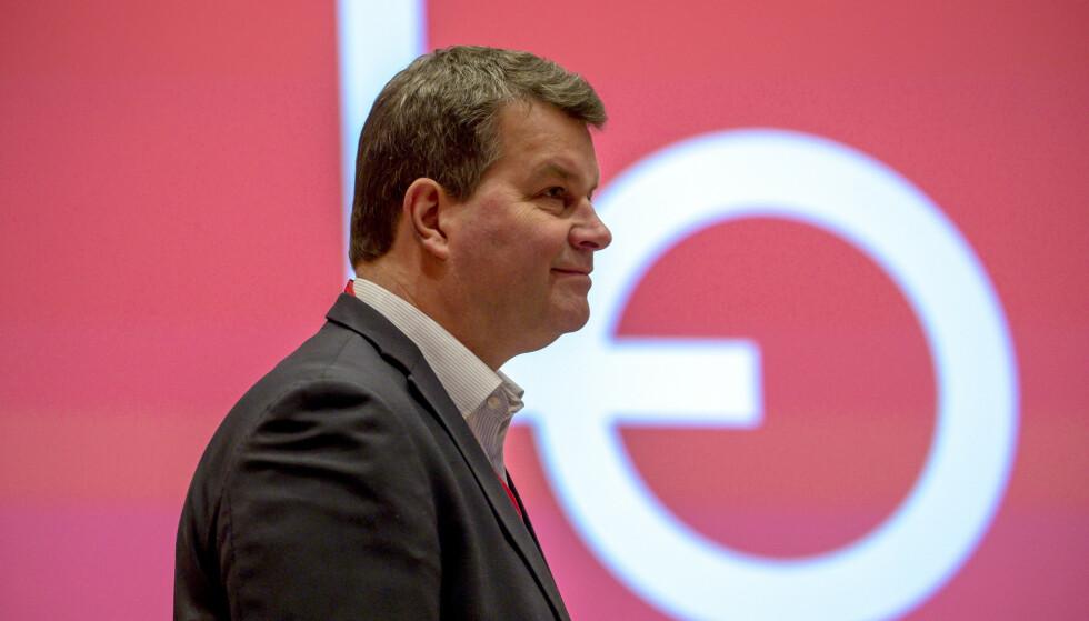 HARDT UT: LO-leder Hans-Christian Gabrielsen går hardt ut mot både regjeringen og Norges bank i dag. Foto: Cornelius Poppe / NTB scanpix