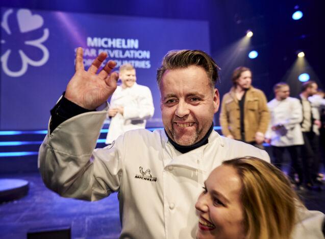 JUBEL: Sven Erik og kona Torill Renaa driver Michelin-restauranten i Stavanger sammen. Foto: Ole Martin Wold / NTB Scanpix