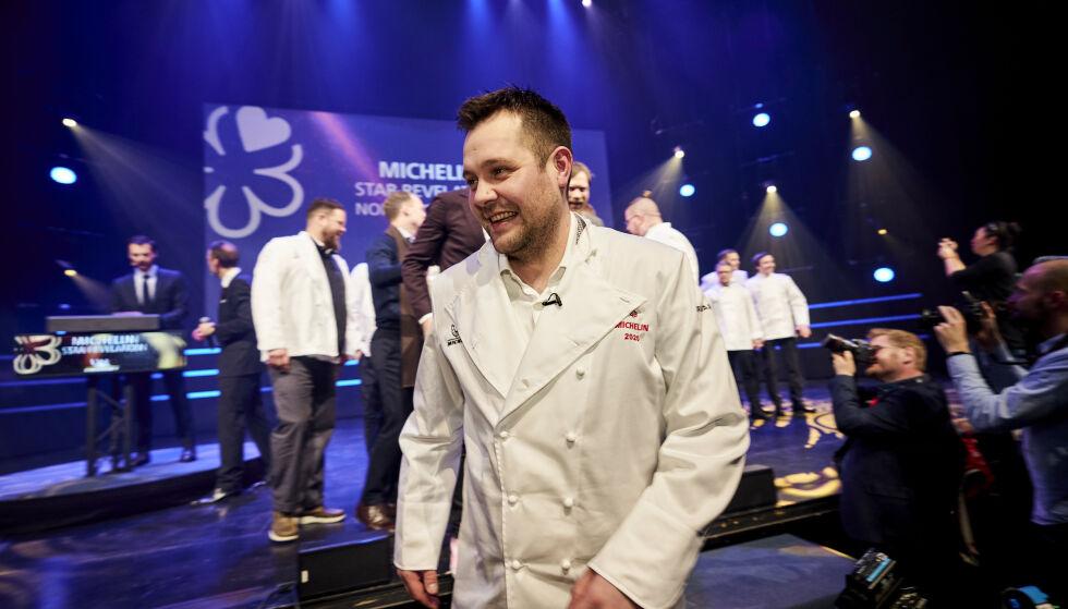 SPEILSALEN-KOKK: Christopher William Davidsen og Restaurant Speilsalen mottok én Michelin-stjerne. Foto: Ole Martin Wold / NTB scanpix