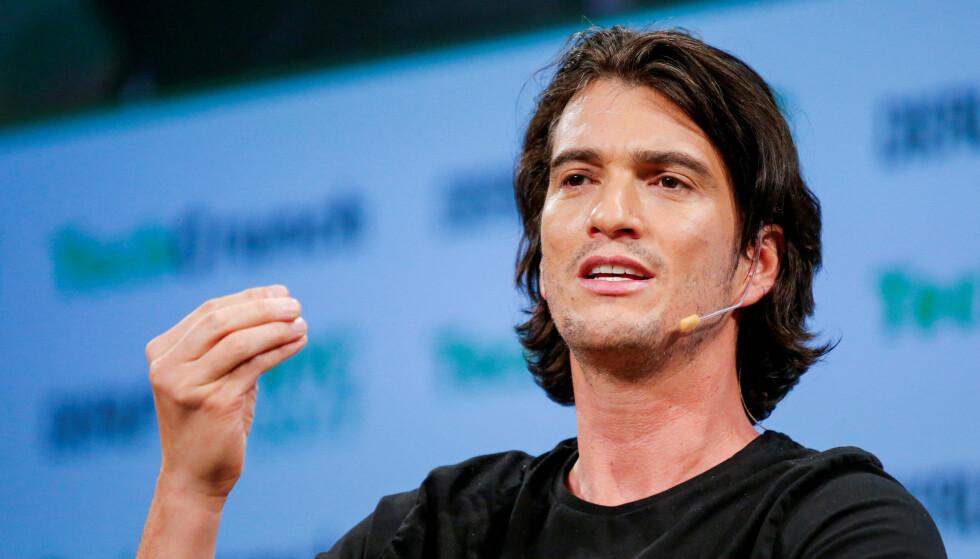 <strong>- SJARMØR:</strong> Adam Neumann er blitt beskrevet som en karsimatisk forretningsmann. Foto: NTB Scanpix