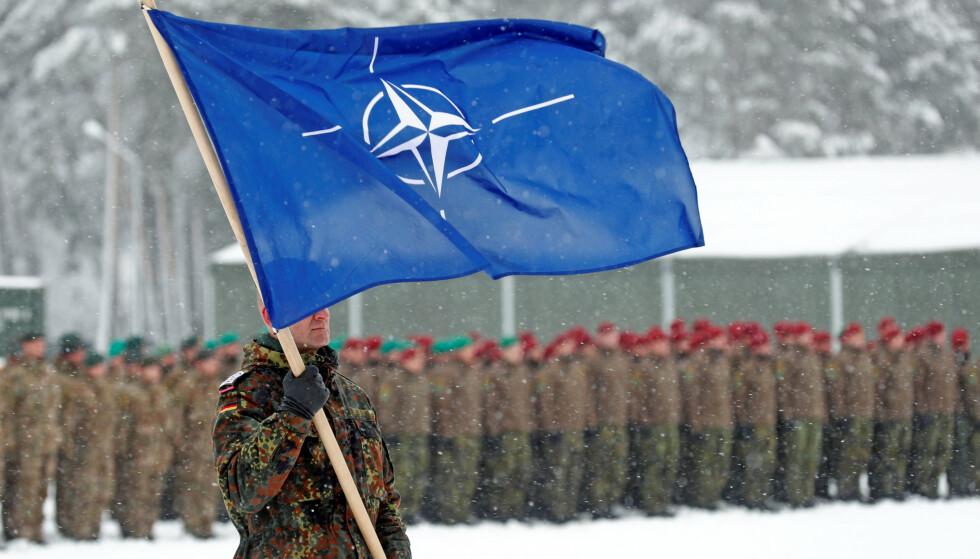 NEDGANG: Norge eksporterte våpen for 600 millioner mindre i 2019 enn året før. 79 prosent av eksporten går til Nato-land. Foto: Ints Kalnins / Reuters / NTB Scanpix