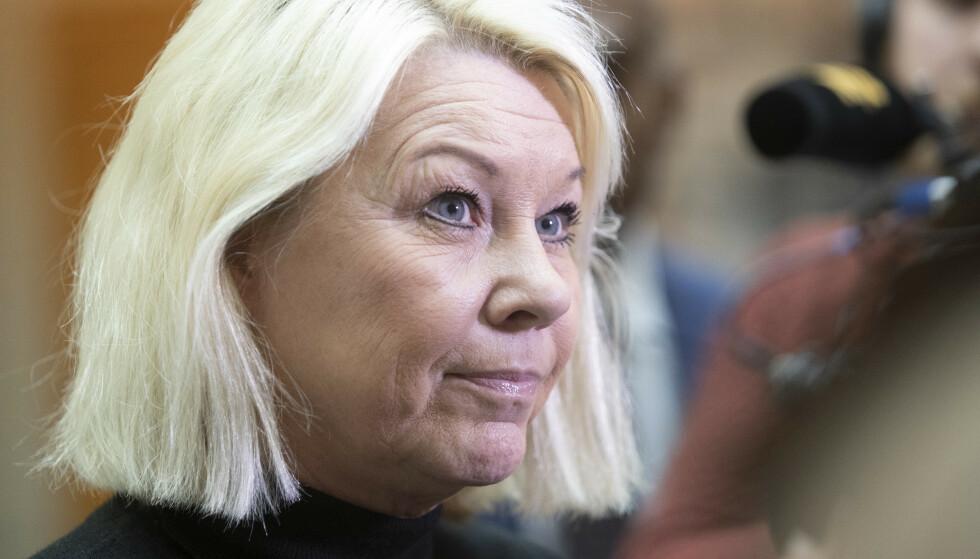 - MER PRAKTISK: Justisminister Monica Mæland (H) tror Konkursregisteret bedre oppfyller sitt formål når det blir søkbart fra april. Foto: Terje Bendiksby / NTB scanpix